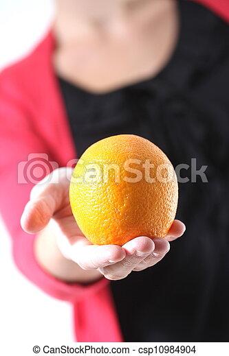 woman with orange - csp10984904