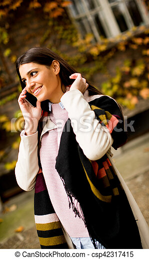 Woman with phone - csp42317415