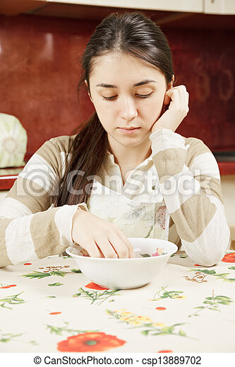 Woman with plate - csp13889702
