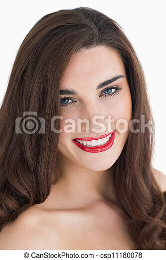 Woman with red lips - csp11180078