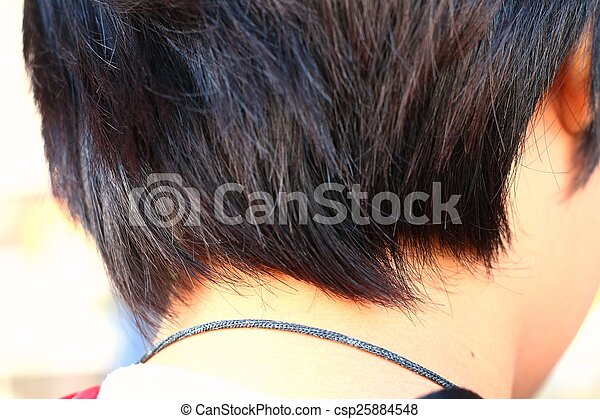 Woman with short hair - csp25884548