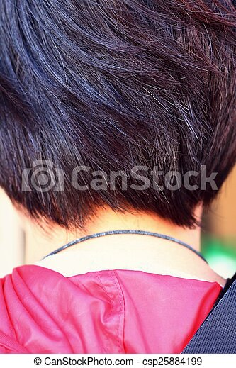 Woman with short hair - csp25884199