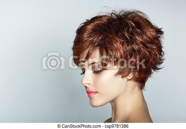 woman with short haircut - csp9781386