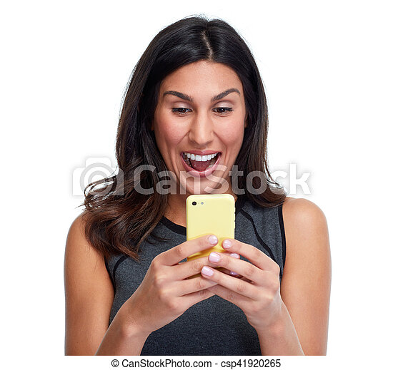 Woman with smartphone. - csp41920265