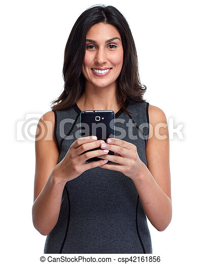 Woman with smartphone. - csp42161856