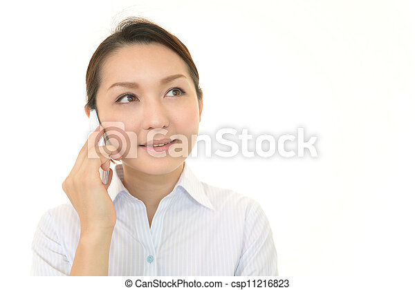 Woman with smartphone - csp11216823