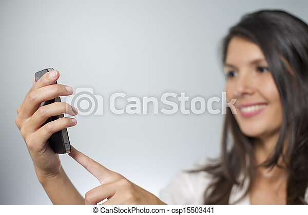 woman with smartphone - csp15503441