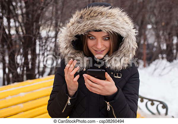 Woman with smartphone - csp38260494