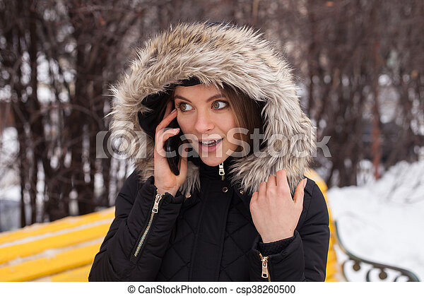 Woman with smartphone - csp38260500