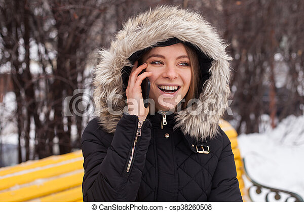 Woman with smartphone - csp38260508