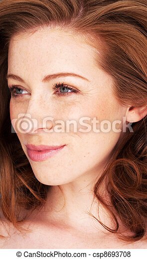 Woman With Smiling Eyes - csp8693708