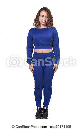 woman with sportswear on white background, - csp79171105