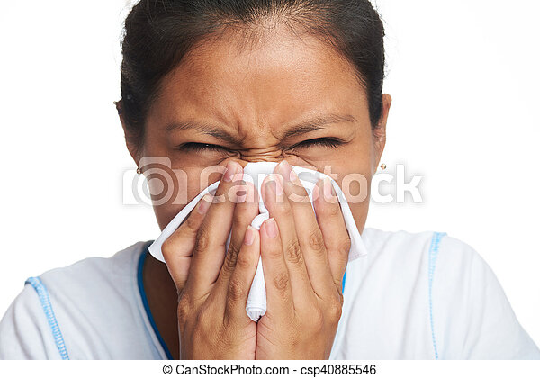woman with tissue - csp40885546