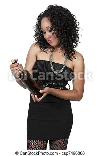 Woman with Wine - csp7496868