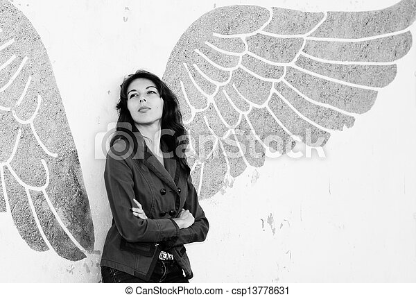 woman with wings - csp13778631