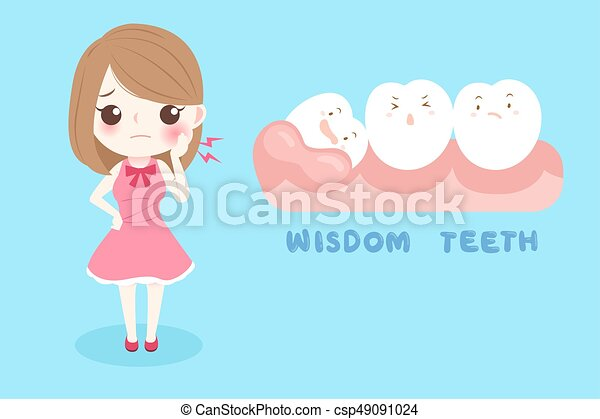 woman with wisdom teeth - csp49091024