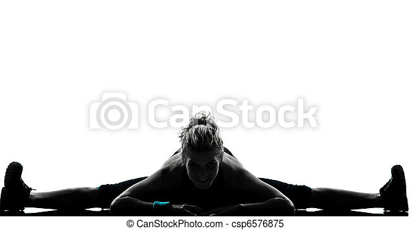 woman workout fitness posture - csp6576875