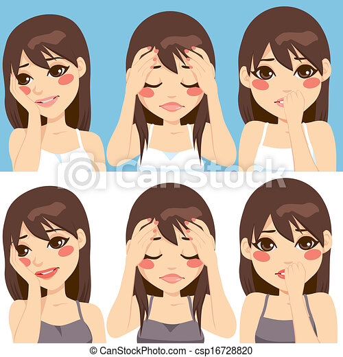 Woman Worried Expressions - csp16728820