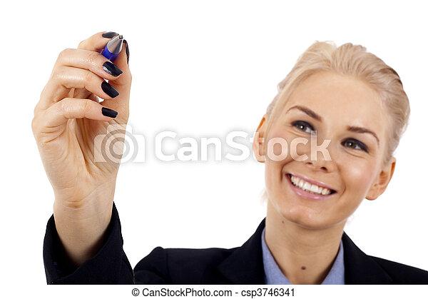 woman writing - csp3746341