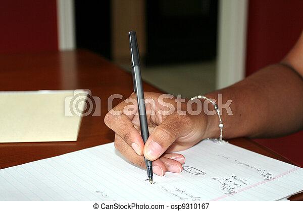 Woman Writing - csp9310167