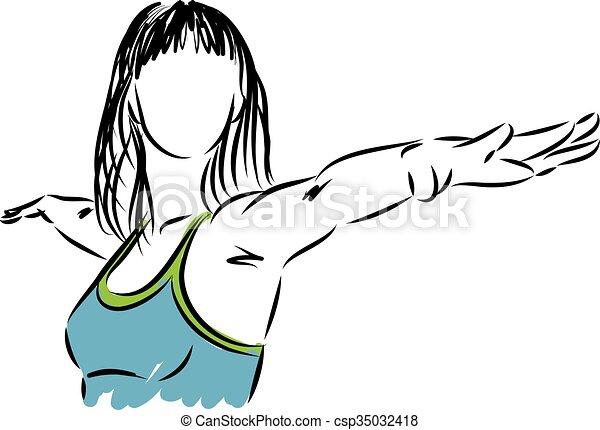 woman yoga fitness illustra