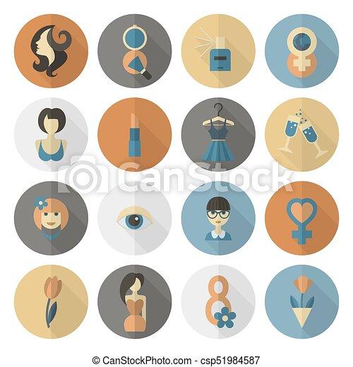 El icono del día de las mujeres - csp51984587