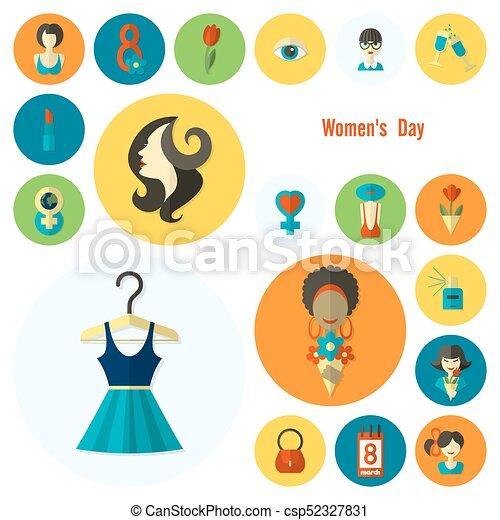 El icono del día de las mujeres - csp52327831