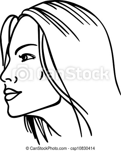 Woman S Face Vector Illustration Isolated On White Background