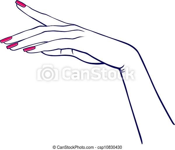 woman s hand isolated on white background