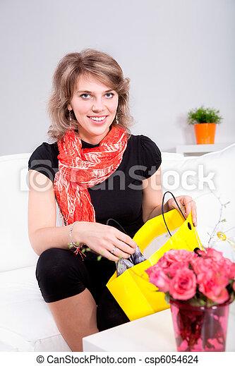 womans portrait - csp6054624