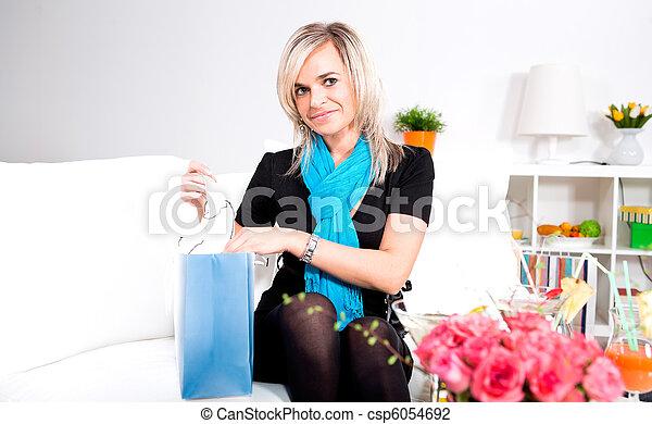 womans portrait - csp6054692