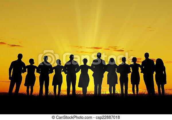 Women and men unity - csp22887018