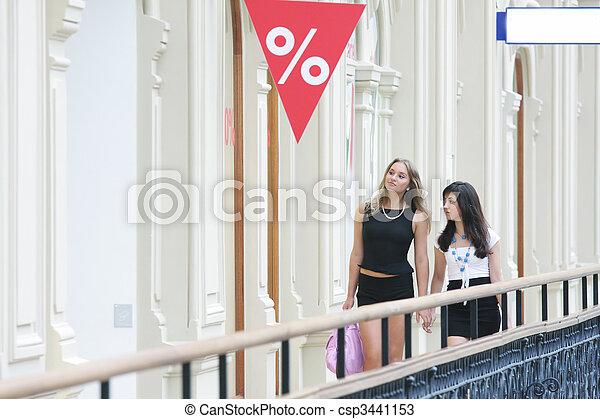 Women at shopping - csp3441153