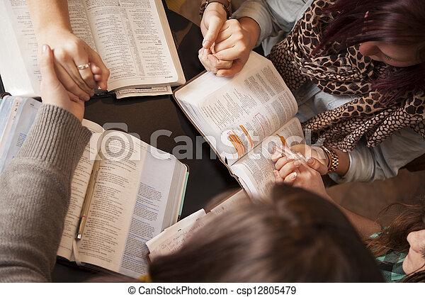 Women Bow And Pray - csp12805479