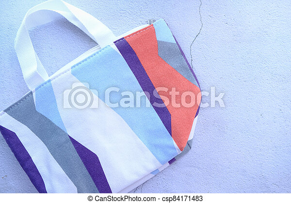 women casual bag on white background top view. - csp84171483