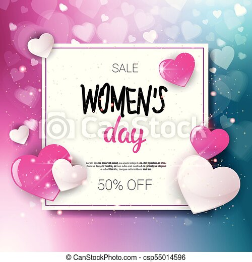 2634da71ea9c Women Day Sale 8 March Holiday Shopping Special Offer Flyer Banner Discount  Poster Background - csp55014596