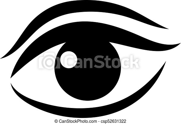 women eye vector icon isolated on white background vector rh canstockphoto com vector eye silhouette vector eye centre