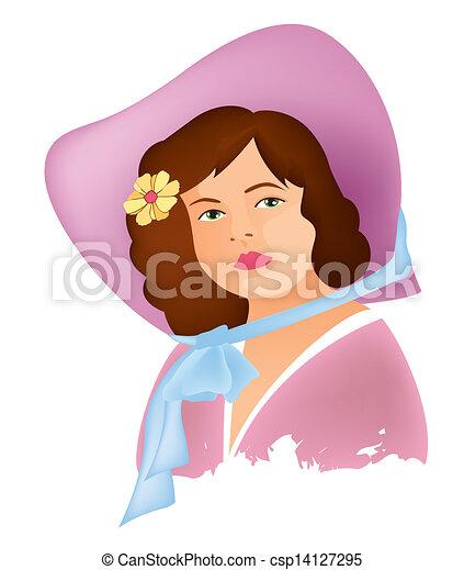 women face vintage 4 - csp14127295