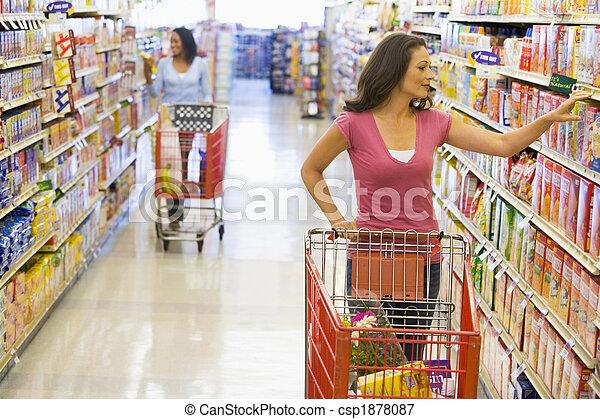 Women grocery shopping - csp1878087