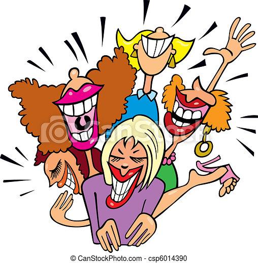 Women having fun and laughing - csp6014390