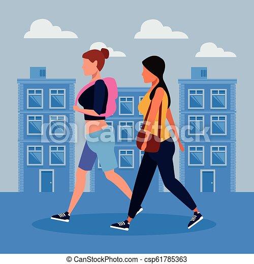Women in the city - csp61785363
