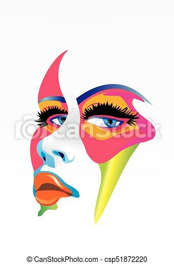 women of color face - csp51872220