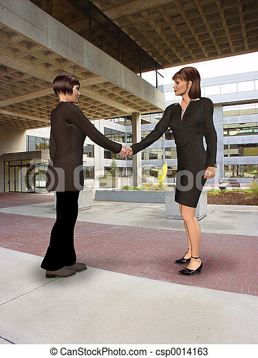 Women Shaking Hands - csp0014163