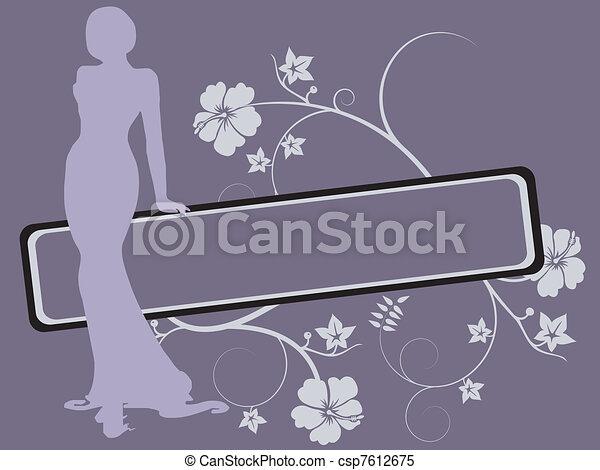 women silhouette - csp7612675
