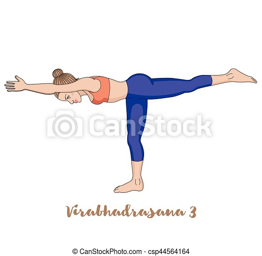 women silhouette warrior 3 yoga pose virabhadrasana 3