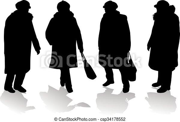 Women silhouettes. - csp34178552