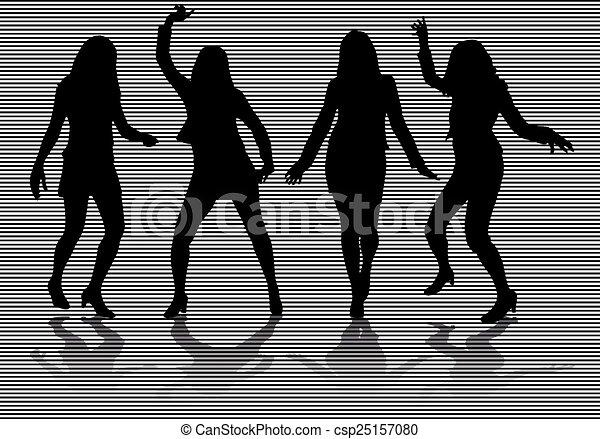 Women silhouettes - csp25157080