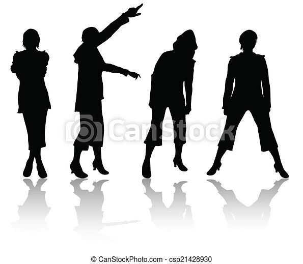 Women silhouettes - csp21428930