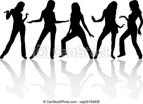 Women silhouettes - csp24184836