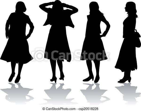 Women silhouettes - csp20518228